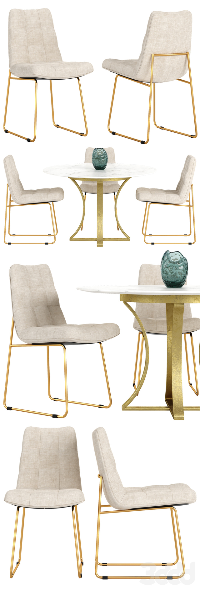 Crate and Barrel Alice chair Gage table set
