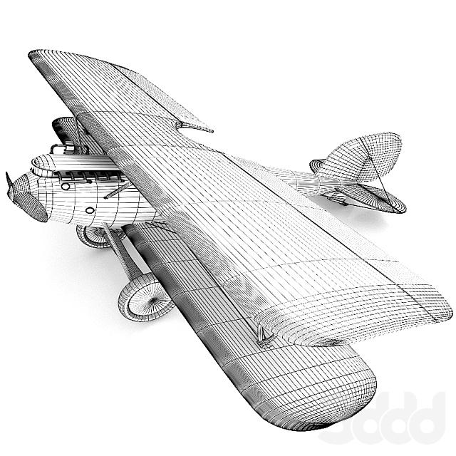 Модель самолета Пфальц (Pfalz) - декор для детской комнаты