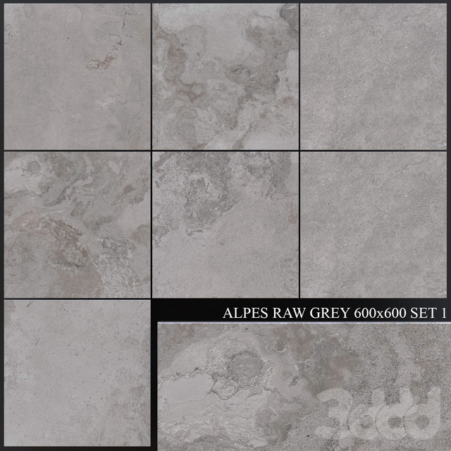 ABK Alpes Raw Grey 600x600 Set 1