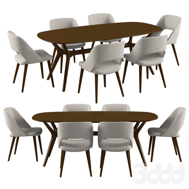 Tosconova  Zoe table Sixty chair