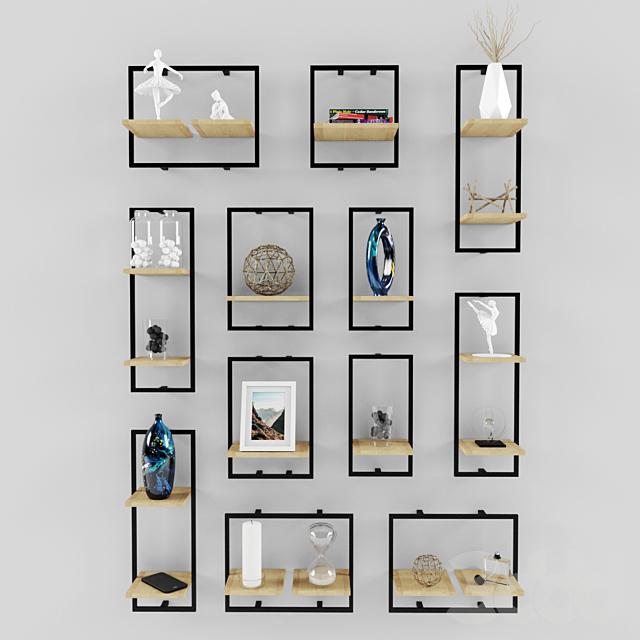Decorative set 05 _ modern shelves