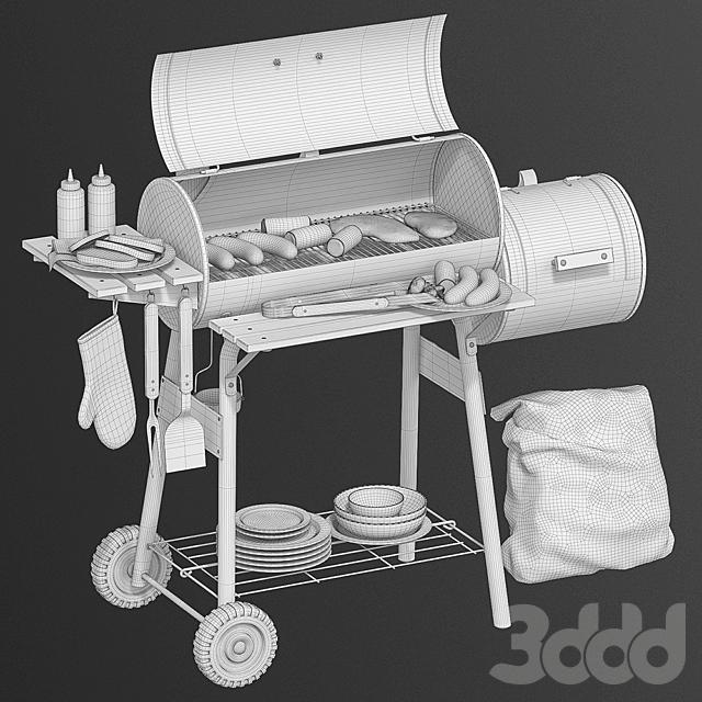 Charcoal grill BBQ
