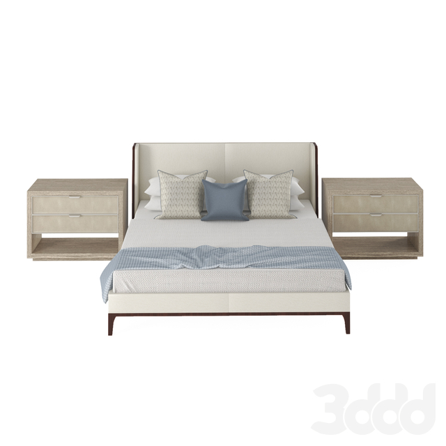 Bed Holly Hunt with nightstand by Bernhardt