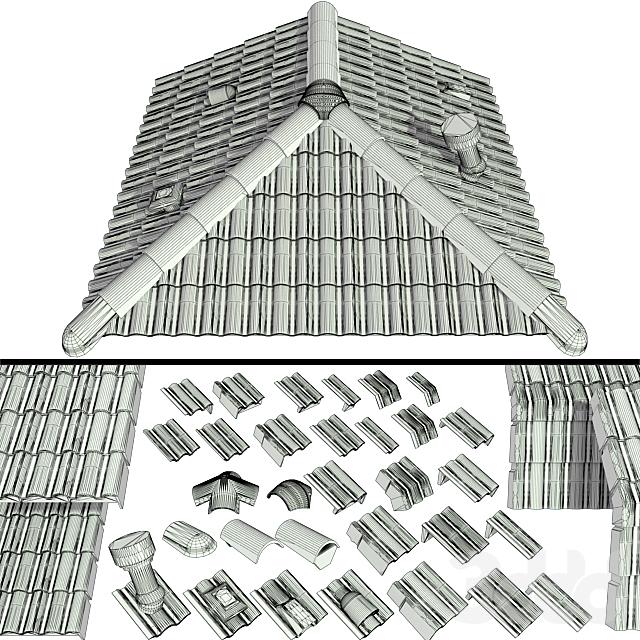 Керамическая черепица, крыша