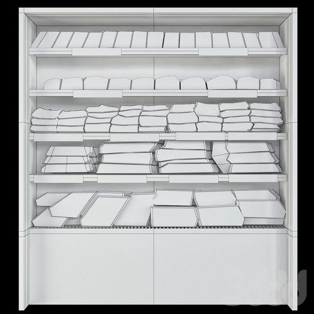 Shelves sandwiches and packed lunches