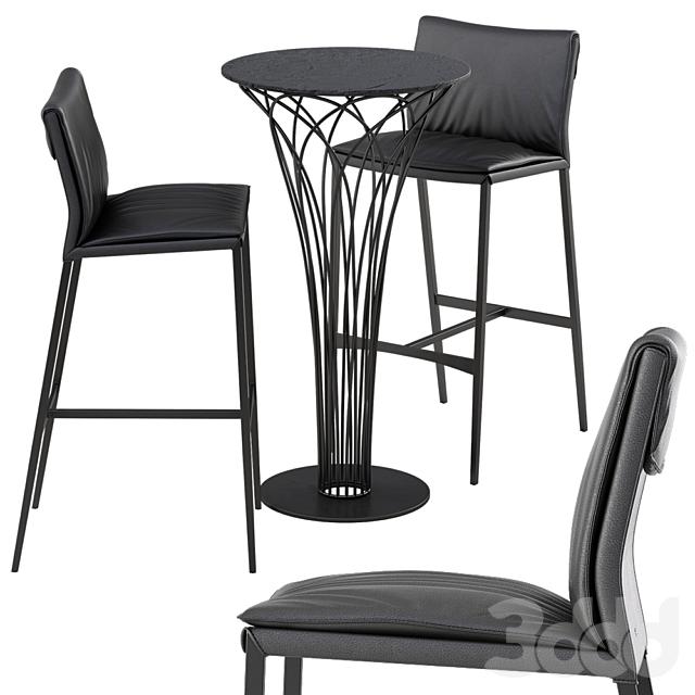 Cattelan italia Isabel barstool Nido table set