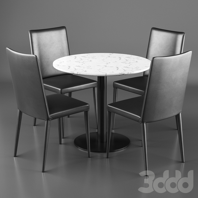 Frag Bella H chairs and Frag Doni 73 Table