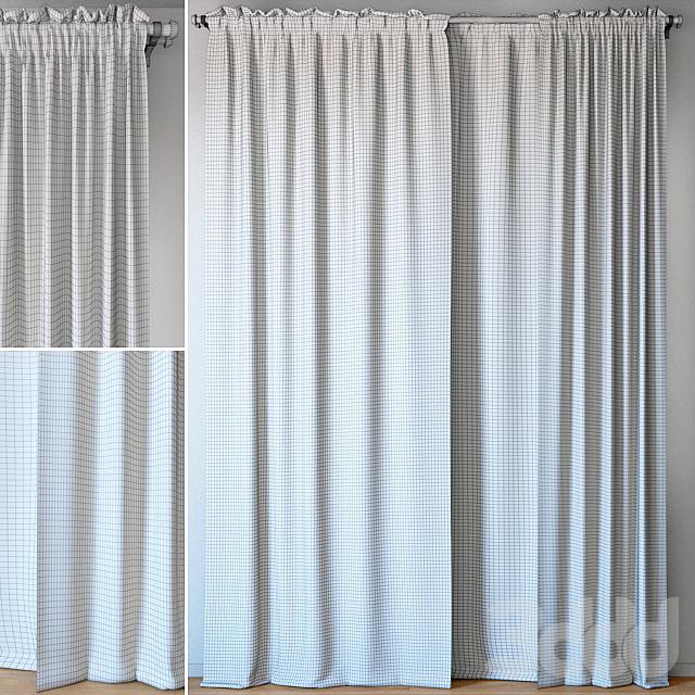 Curtains 95   EMILY VOILE   Aegean Blue