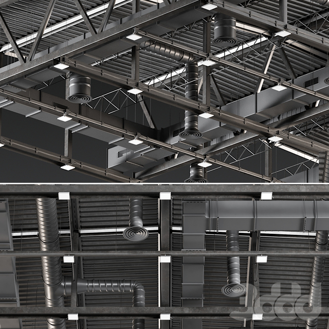 Ceiling Ventilation Black