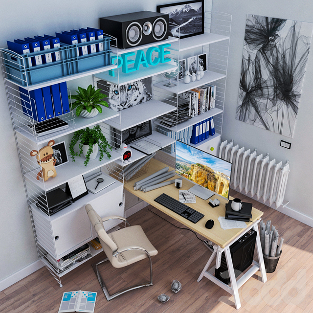 JC IKEA WorkPlace Furniture Set