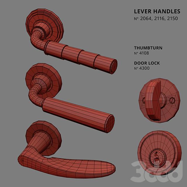 Door Lever Handles Nanz N° 2064, 2116, 2150