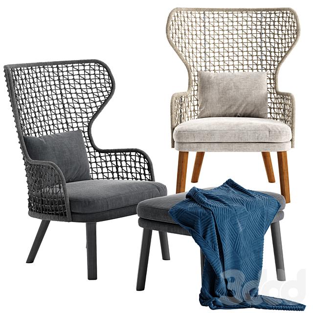 Varaschin Emma bergere armchair