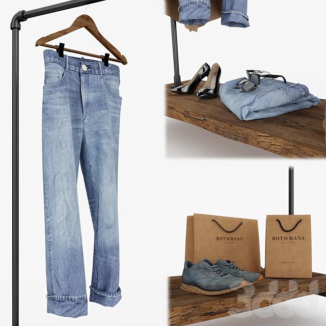 Повседневный женский и мужской гардероб