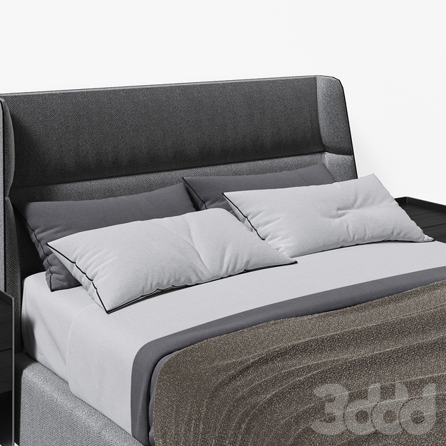 Chloe Bed Poliform by Carlo Colombo