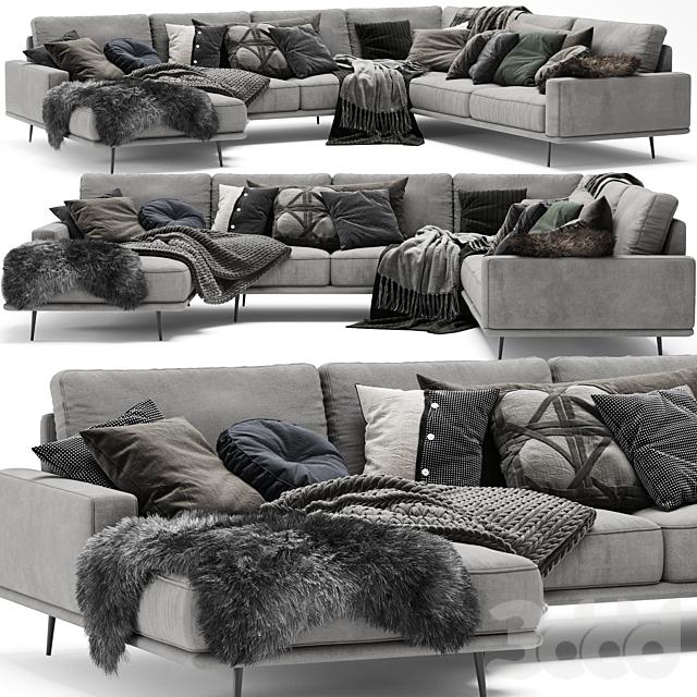 Scandinavian Set - BoConcept Carlton Sofa