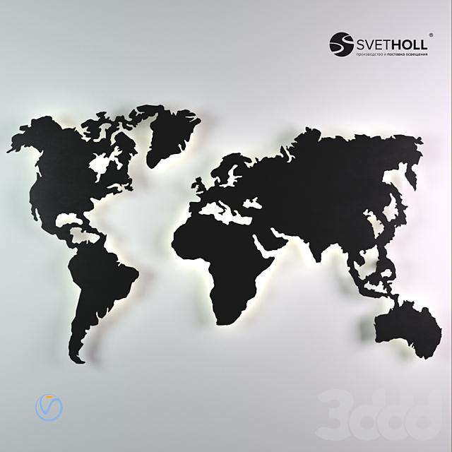 Настенные перфорации: Карта мира