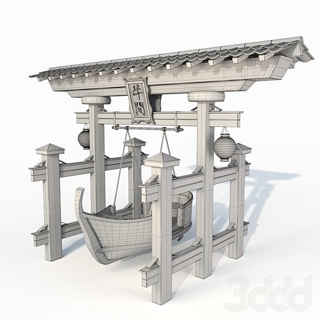 Японсике качели лодка