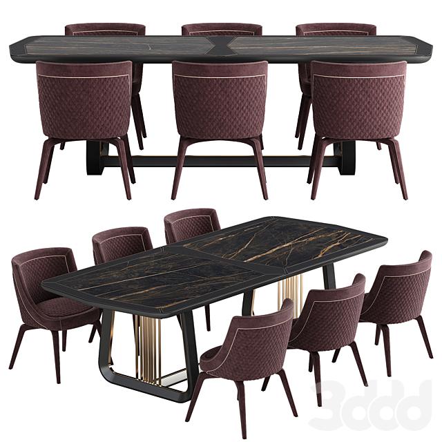 Vittoria Frigerio Perla chair Arquis table set