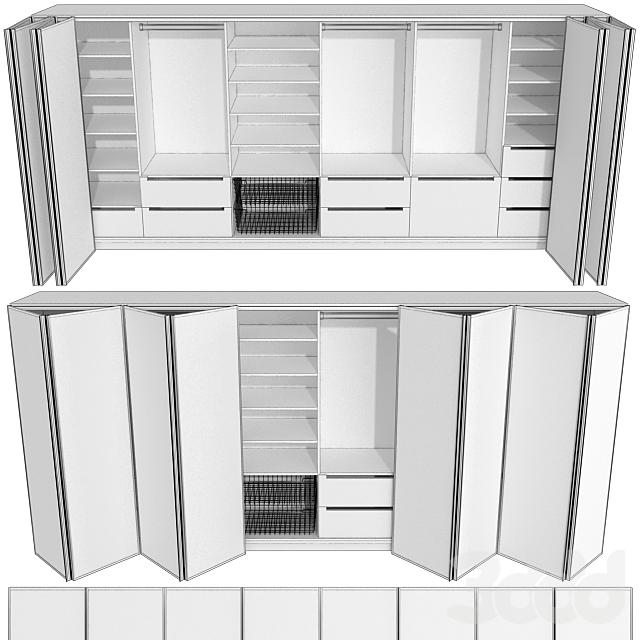 Гардероб, шкаф купе, складывающиеся двери