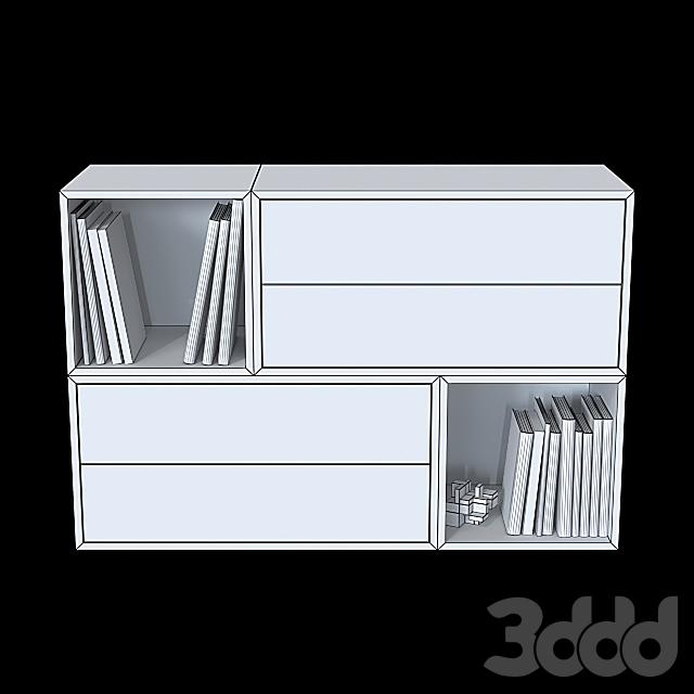 Комбинация настенных шкафов IKEA Экет 6.