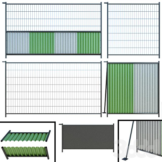 Забор, Ограждение для стройки, участка