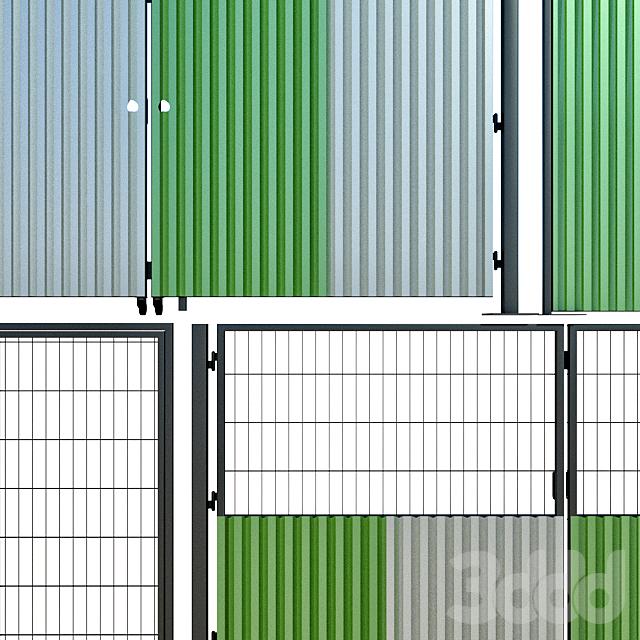 Распашные ворота, калитка для стройки, участка