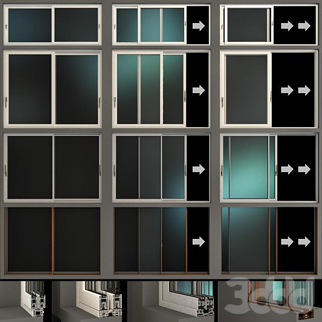 Раздвижные витражные алюминиевые окна / Sliding Stained Glass Aluminum Windows
