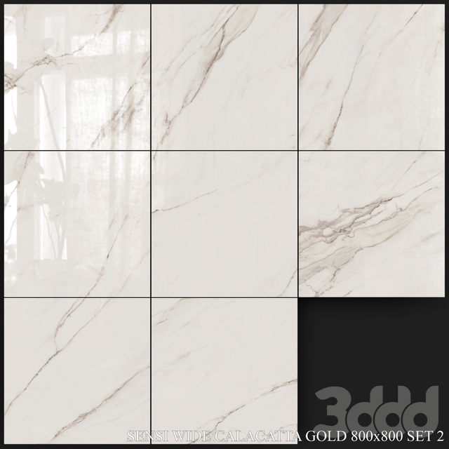 ABK Sensi Wide Calacatta Gold 800x800 Set 2