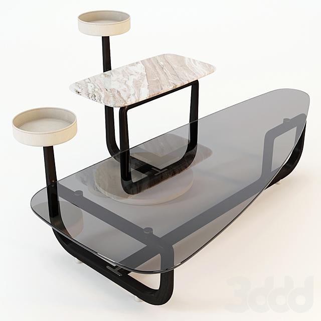 Giorgetti: Coffee Table - Amiral Set-01