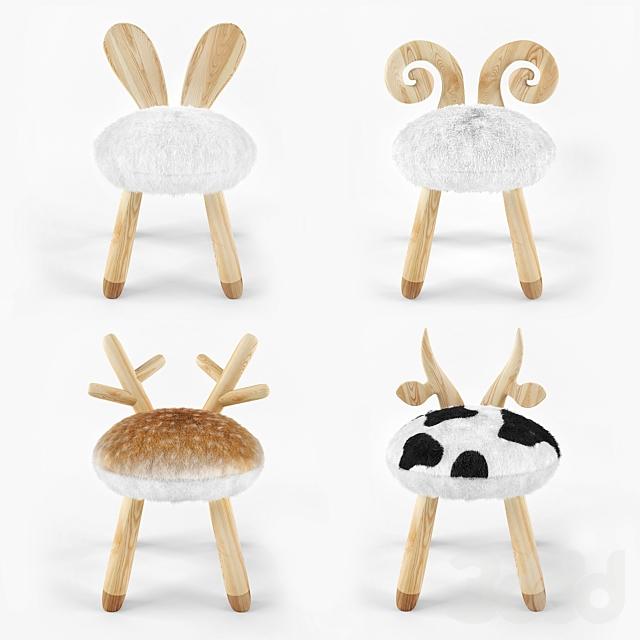 animal wooden set