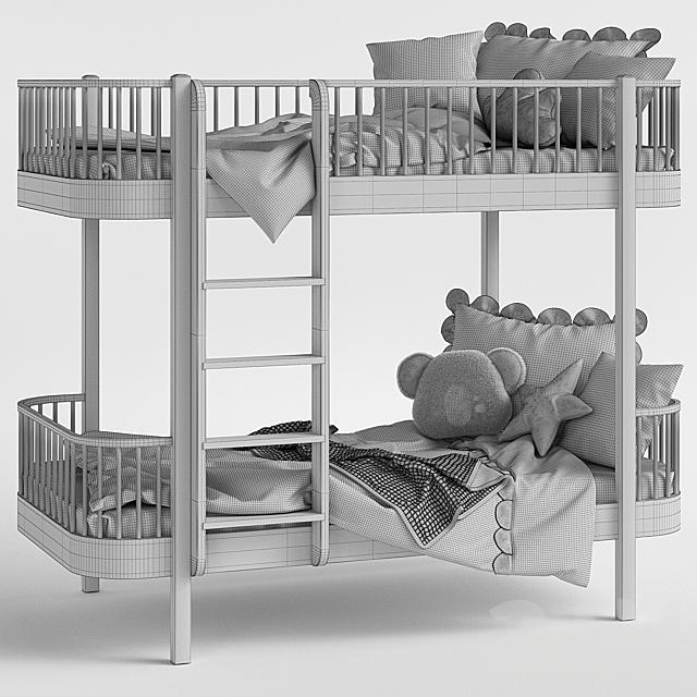 Детская кровать - Nubie Oliver Wood Bed