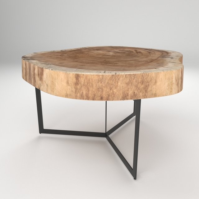 Wood trunk Coffee Table