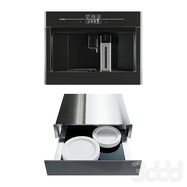 Автоматическая кофемашина Asko CM8478G + подогреватель посуды Elements by ASKO ODW8127A