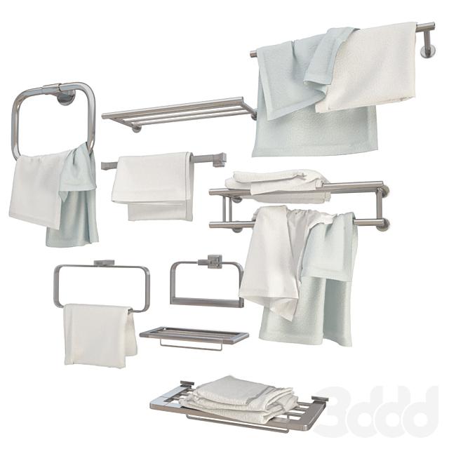 Metallic Wall Towel Holders