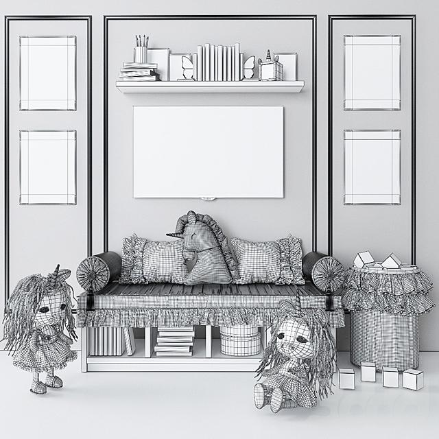 Набор для декорирования детской комнаты с единорогами