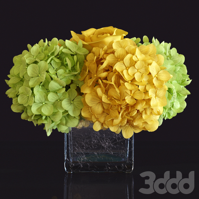 Floral Arrangement: Hydrangea and Rose