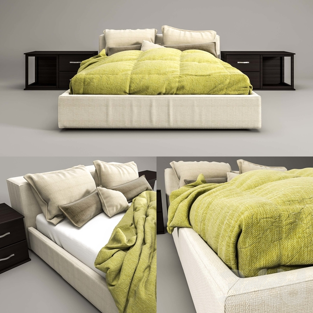 Mex Bed Cassini Piero Lissoni
