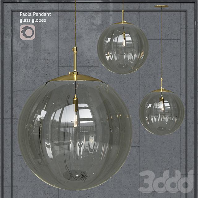 Подвесной светильник Hector Finch Paola Pendant Grigio Gold Large