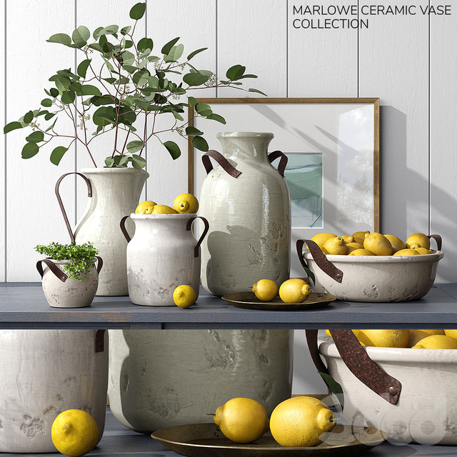 Pottery Barn MARLOWE CERAMIC VASE COLLECTION