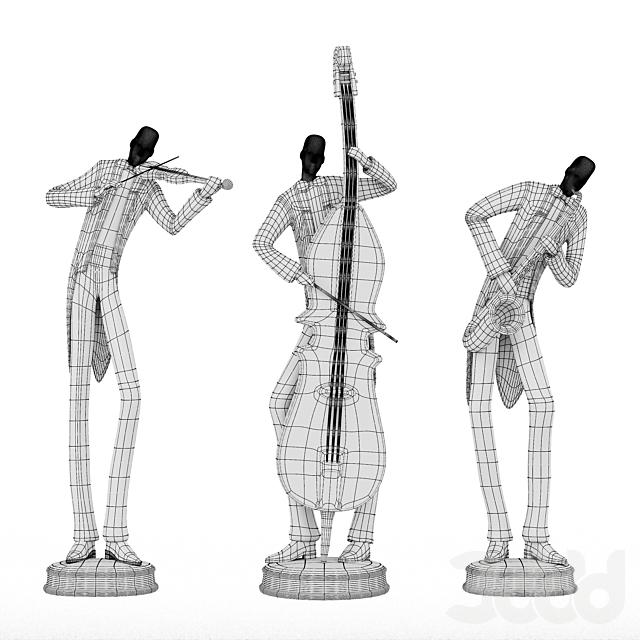 Uttermost Musicians Decorative Figurines