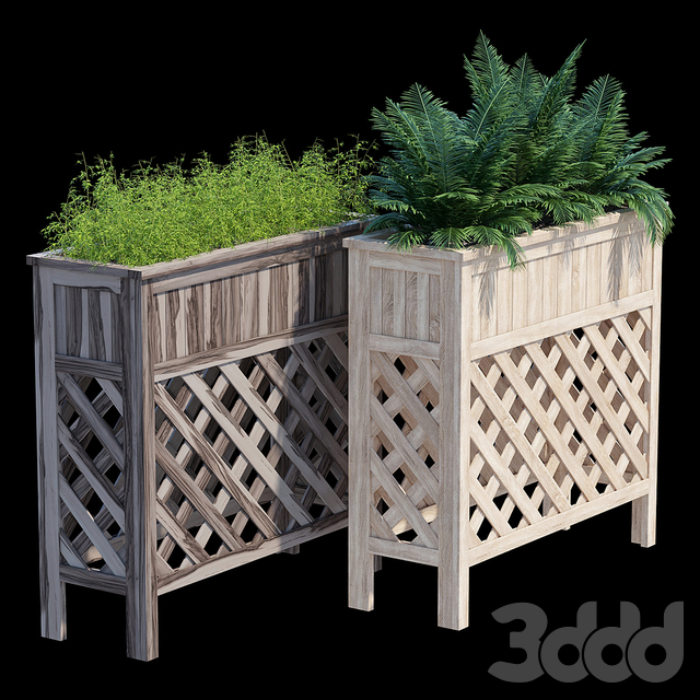 Raised patio planter 36