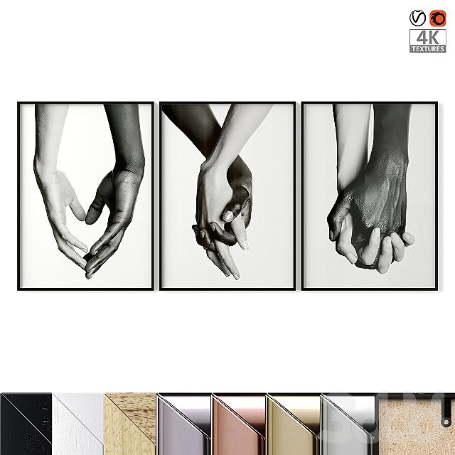 """Poster Set """"Holding Hands"""""""