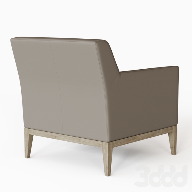 MORGAN LEATHER TRACK ARM CHAIR