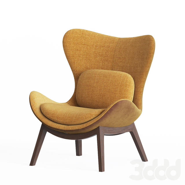 Calligaris lazy Armchair & Pouf Set