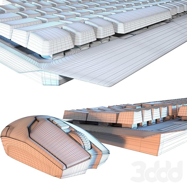 Компьютерная мышь+клавиатура с подсветкой