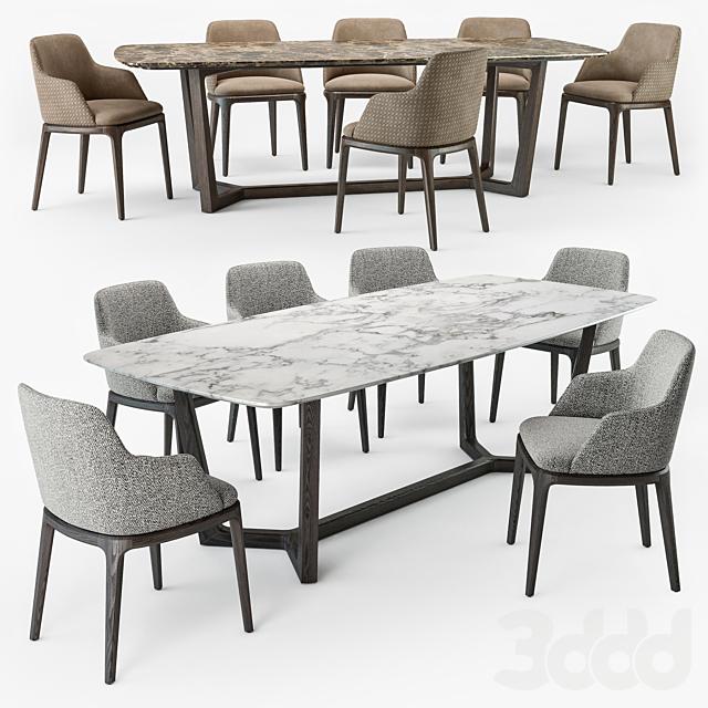 Grace armchair Concorde table set