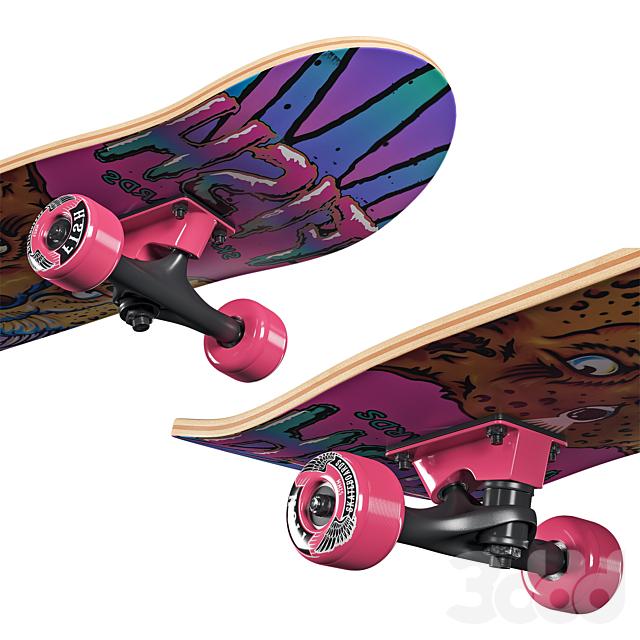 Skateboard Fish Girl