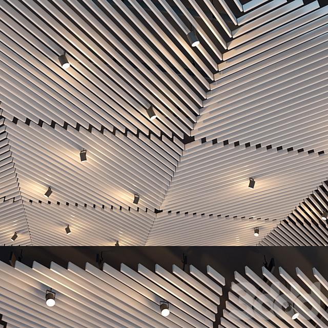 Подвесной потолок реечный. 25
