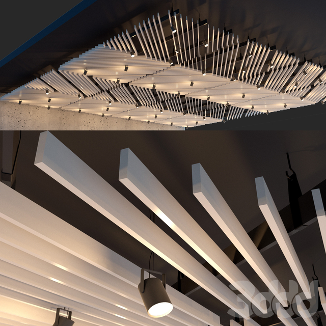 Подвесной потолок реечный. 27