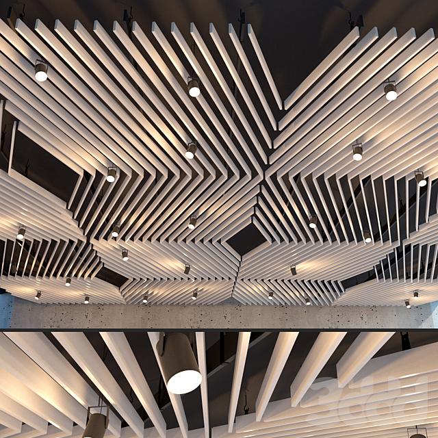 Подвесной потолок реечный. 28
